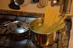 spaghetti totanetti aglio e olio