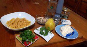 penne pere e gorgonzola