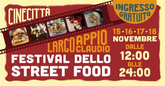 evento Festival street food Cinecittà