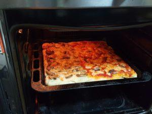 pizza in forno cottura
